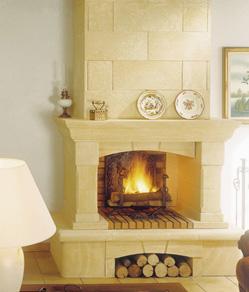 chemin es traditionnelles foyer ouvert arts chemin es. Black Bedroom Furniture Sets. Home Design Ideas